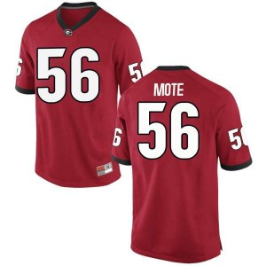 Youth Georgia Bulldogs #56 William Mote Red Game College Football Jersey 218113-513