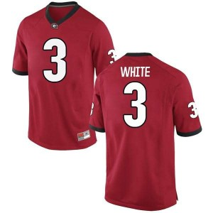 Youth Georgia Bulldogs #3 Zamir White Red Game College Football Jersey 665602-301